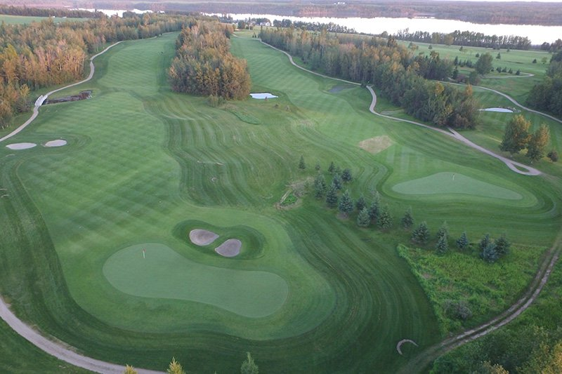 Arial View of the Golf Course