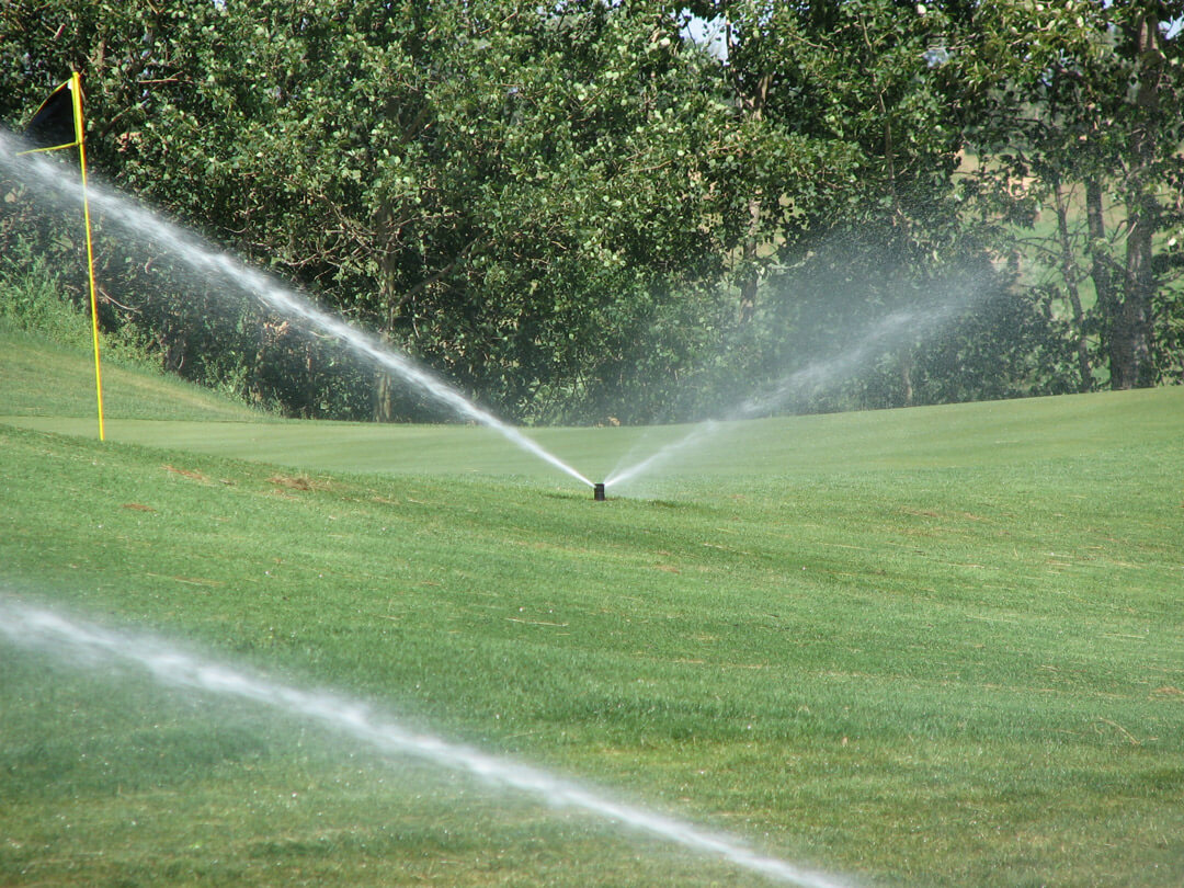 Sprinklers on the course